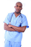 African Amrican Male Nurse Royalty Free Stock Photo