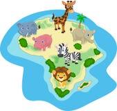 African animal cartoon Stock Photography