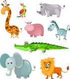 African animal set. Vector illustration of a african animal set Royalty Free Stock Image
