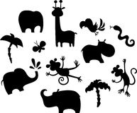 African animal set. Vector illustration of a african animal set Royalty Free Stock Images