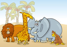 African animals. Group of african animals illustration Stock Photo