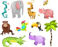 African animals. Vector illustration of a cute african animals Royalty Free Stock Image