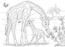 African animals. Cute crocodiles. Illustration for children. Stock Photography