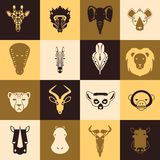 African animals icons. With flat design. Vector Illustration Royalty Free Stock Image