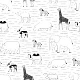 African animals pattern Stock Photography
