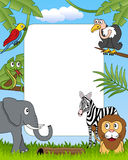 African Animals Photo Frame [4]. A funny cartoon photo frame with african animals in the savanna. Eps file available Royalty Free Stock Photo