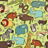 African Animals Seamless Pattern Royalty Free Stock Images