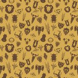 African Animals. Seamless pattern with flat drawings savannah animals Stock Images