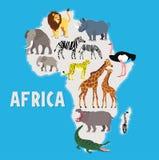 African Animals. Vector Illustration. Stock Photos