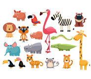 African Animals. Vector Illustration Set Royalty Free Stock Images