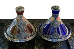 African-arabian food containers Royalty Free Stock Images