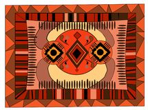 African, Arabian ornament, warm colors, African design background, Arabian motifs. Can be used for carpets Royalty Free Stock Photo