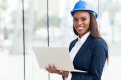 African architect laptop Royalty Free Stock Image