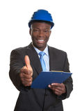African architect showing thumb up Royalty Free Stock Photos