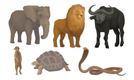 Free African Area Habitants Drawn In Realistic Manner Vector Illustrations Stock Photo - 161135140