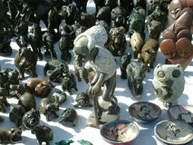 African Art. Sold by a street vendor in Pretoria, South Africa Stock Photography