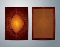 African art brochure flyer design. Royalty Free Stock Photo
