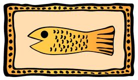 African art fish Royalty Free Stock Image