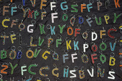 African art key ring alphabet Stock Photos