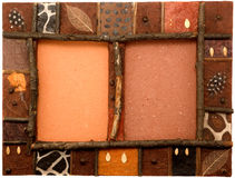 African art picture frame Stock Photo
