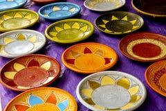 African Art Plates Royalty Free Stock Photos