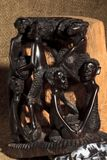 African art and sculptures made of ebony wood carving royalty free stock photography