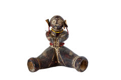 African artifact. Isolated on a white background Stock Photos
