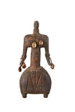 African artifact of a man. Isolated on white background Stock Images