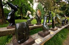 African artwork at Dvur Kralove Zoo Safari, Czech Republic Stock Photo