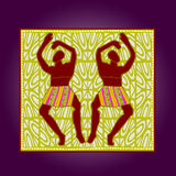 African artworks. African style decorative  ornaments Stock Image