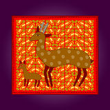 African artworks. African style decorative  ornaments Royalty Free Stock Image