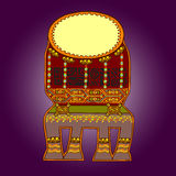 African artworks. African style decorative  ornaments Royalty Free Stock Photography