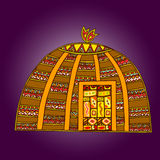 African artworks. African style decorative vector ornaments Royalty Free Stock Images