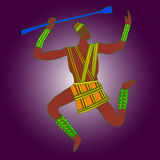 African artworks. African style decorative vector ornaments Stock Photography
