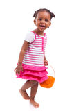 African Asian girl holding chocolate ester egg Stock Images