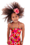 African Asian girl playing with her hairs Royalty Free Stock Photography