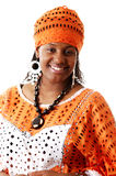 African Attire Fashion. This is an image of a woman wearing an african attire Royalty Free Stock Photography