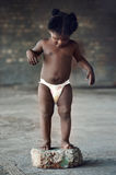African baby alone Royalty Free Stock Photography