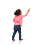 African Baby Girl Pointing Finger To Something Royalty Free Stock Image