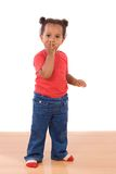 African baby throwing a kiss Royalty Free Stock Photo
