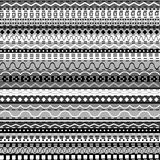 African background with black and white motifs Stock Photography
