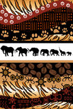 African background made of ethnic motifs Stock Photo