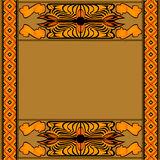 African background with pattern and symbol Royalty Free Stock Photo