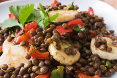African Bananas Lentils Salad Stock Image