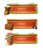 African Banner Set Royalty Free Stock Images