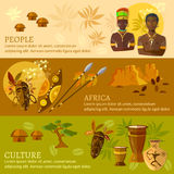 African banners Africa culture and traditions. African tribes vector illustration Royalty Free Stock Images