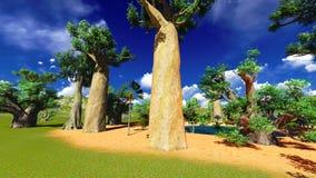 African baobabs Royalty Free Stock Image