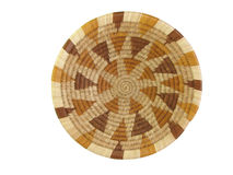 African basket. Isolated brown and tan african basket Stock Image