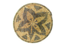 African Basket 7. Brown and tan african coil basket Royalty Free Stock Photography