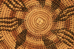 African basket bottom. Close up of the bottom of an African basket showing the spiral construction and design Royalty Free Stock Photos